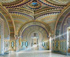 The Peacock Room, Castello di Sammezzano, Reggello, Tuscany, by David Burdeny Palaces, David Burdeny, Italy Architecture, Byzantine Architecture, Architecture Images, Blue Drawings, Miss Moss, Interior Photo, Interior Design