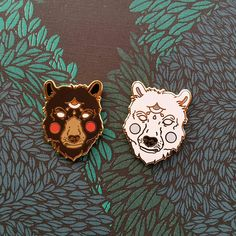 Check out this item in my Etsy shop https://www.etsy.com/au/listing/533884648/grumpy-ass-pair-of-bears-hard-enamel-pin