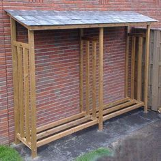 Image result for firewood storage outdoor corrugated