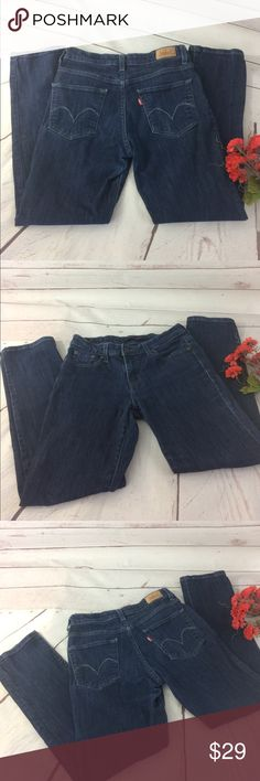 "Levi's Mid Rise Skinny Jeans Levi's Mid rise skinny jeans. 99% cotton & 1% elastane. Measurements approximately as follows: waist 28"", inseam 27"", rise 9"" and length 36.5"". Excellent condition!! B4 Levi's Jeans Skinny"