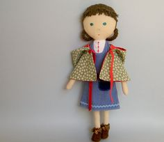 handmade doll, summer flower