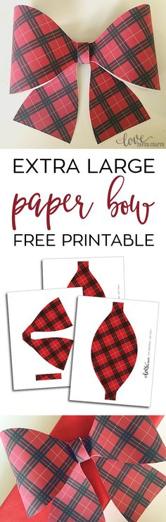 Free Printable Paper Bow | LovePaperCrafts.com