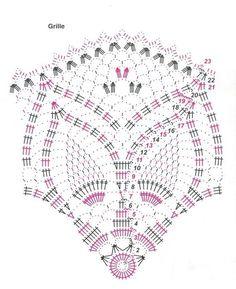Crocheted motif no. Irish Crochet Patterns, Crochet Doily Diagram, Crochet Symbols, Filet Crochet, Crochet Designs, Crochet Dollies, Crochet Art, Crochet Home, Thread Crochet