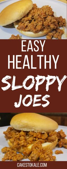 Easy Healthy Homemade Sloppy Joes. This quick recipe with be perfect for a family dinner.
