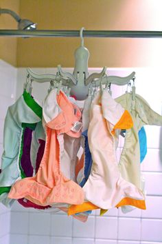 Literally Organized: Stripping and drying cloth diapers. Pressa drying rack from IKEA