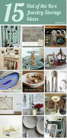 15 out of the box jewelry storage ideas