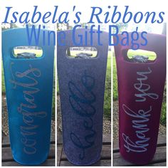 Wine Gift Bags.......reusable, regiftable, so much fun!