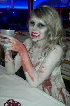 "October 24th 2011 - ""Zombie Prom"" - http://prettymaking.blogspot.com/2011/10/zombie-prom-costume-pictures.html"