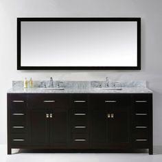 "Found it at Wayfair - Caroline Parkway 79"" Double Bathroom Vanity Set with Mirror"