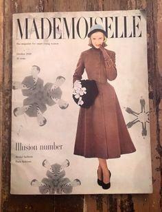 Vintage Mademoiselle Magazine Oct 1949 by MyLiliMarlene on Etsy