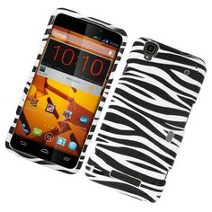 Insten Zebra Hard Snap-on Rubberized Matte Case Cover For ZTE Max
