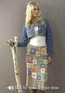 Archena Skirt by Doris Chan - just one of the free crochet skirt patterns featured on mooglyblog!