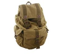 Virginland Medium Vintage Canvas Backpack Leather « Clothing Impulse