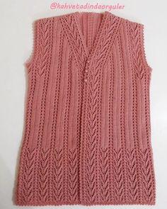 Knitting Paterns, Baby Knitting, Crochet Patterns, Knit Vest Pattern, Baby Vest, Moda Emo, Baby Sweaters, Knitwear, Unisex