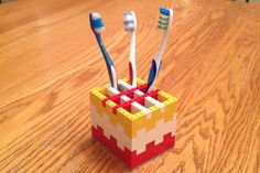 LEGO Toothbrush Holder: https://diy.org/hbomb/239981