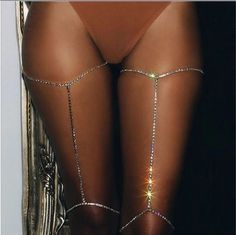 Rhinestone thigh body chain. Top pick just in time for swimsuit season.