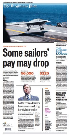 The Virginian-Pilot's front page for Thursday, July 11, 2013.