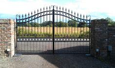 Double Wrought Iron Gates Wirral | Iron Driveway Gates Birkenhead