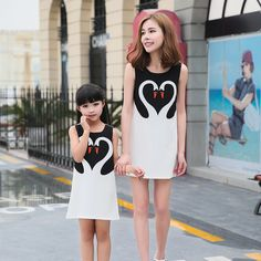 >> Click to Buy << Maggie's Walker the 2017 family new summer dress tide mother and children swan summer dress decoration family sleeveless dress #Affiliate
