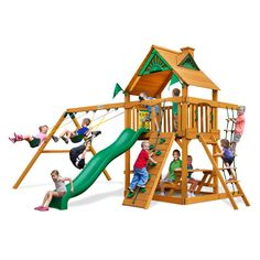 Gorilla Playsets Navigator AP Deluxe Cedar Swing Set - 16170447 - Overstock.com Shopping - Big Discounts on Gorilla Playsets Swing Sets