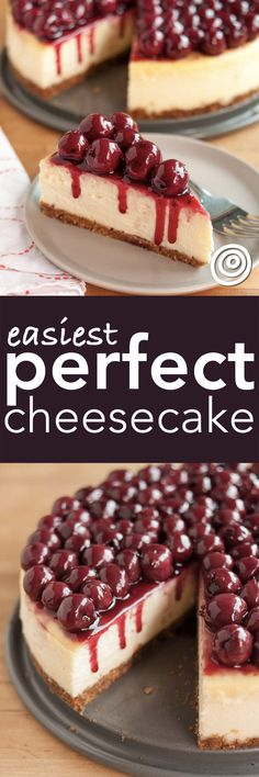 How to Make the Perfect, Homemade Ultimate Plain Cheesecake. Easy step-by-step instructions to ensure you get it just right! This is one of the most important recipes you'll ever learn.