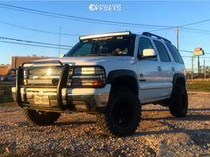 This 2003 Chevrolet Tahoe is running American Racing 0 wheels Radar Renegade tires with Pro Comp Suspension Lift suspension. Lifted Chevy Tahoe, Chevrolet Tahoe, Yukon Truck, Pro Comp, Chevy Girl, American Racing, Wheels And Tires, Gmc Trucks, My Ride