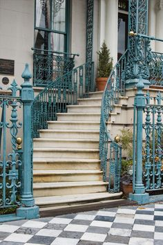 Charleston style iron stair case- The John Rutledge House where we stayed in Beautiful Architecture, Architecture Details, Beautiful Buildings, Beautiful Homes, Beautiful Places, Charleston Style, Take The Stairs, Stair Steps, Iron Gates