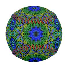 Blue and green celtic knot kaleidoscope.