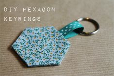 DIY Hexagon Keyrings