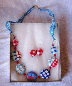 Handmade polymer clay jewelry set by Tania P., via Flickr