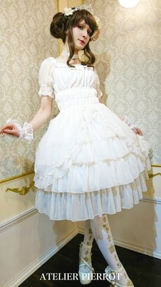 Classical Chiffon OP by ATELIER-PIERROT. 19 items by ATELIER-PIERROT are now available at Wunderwelt fleur, your first choice for Lolita Fashion. Worldwide shipping available!