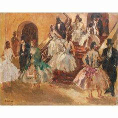JEAN LOUIS MARCEL COSSON (1878-1956) LE HALL DE L''OPÉRA aux enchères