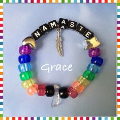 Quartz Crystal Namaste Kandi Bracelet  on Etsy, $4.00                                                                                                                                                                                 More