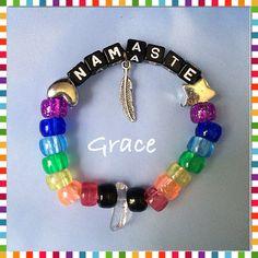 Quartz Crystal Namaste Kandi Bracelet  on Etsy, $4.00