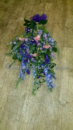 Tied sheaf in blue and pink