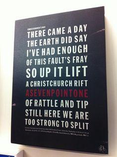 Taken from a gift shop at Christchurch, NZ - #chch #eqnz in words