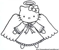 Coloriage ange hello kitty