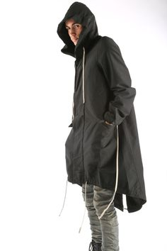 The Fishtail Parka from Rick Owens DRKSHDW Details 100% Italian featherweight nylon Slight batting for warmth, but still perfect for mild winters and spring. Exaggerated drawcords throughout. Zip and