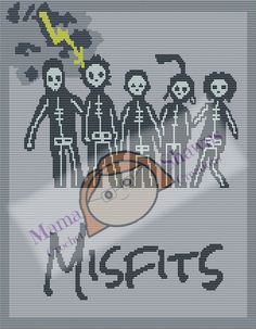 The Misfits - Written Pattern, Graphghan by MamaShawns on Etsy