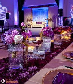 short centerpieces for long table