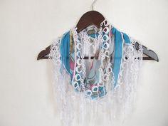 Christmas gift Cotton scarvesTurkish Yemeni Lace by asuhan on Etsy, $10.00