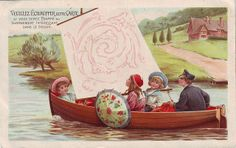 ♥CACAO VAN HOUTEN - INVISIBLE PICTURE SERIES - VH1-C-62-4 - 4 CHILDREN IN A BOAT by patrick.marks,