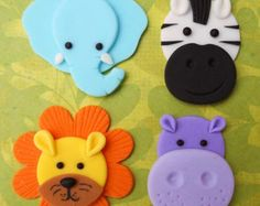 JUNGLE or SAFARI Edible Cupcake Toppers CHOOSE any 4