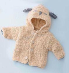Детское пальто с капюшоном спицами 2