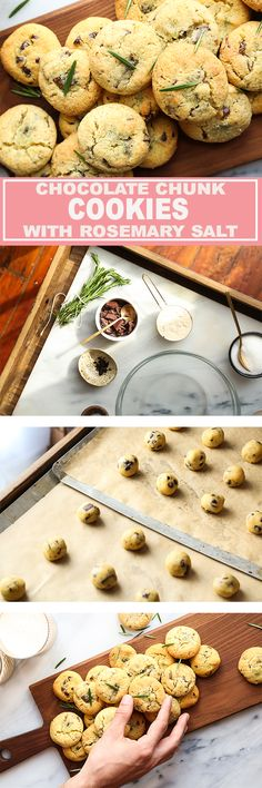 Citrusy Chocolate Chunk Cookies with Rosemary Salt & gluten free! | Probably This   #glutenfree #cookies