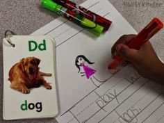 Use old flashcards to inspire writing in your writing center!