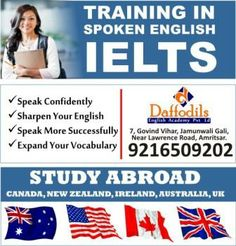 IELTS Coaching in Amritsar ,IELTS Institute in Amritsar ,Best IELTS Coaching in Amritsar,ielts training in Amritsar,ilets coaching center in Ludhiana,No.1ielts institute in Amritsar. Contact: Daffodils English Academy,7, Govind Vihar, Jamunwali Gali, Near Lawrence Road, Amritsar. +91-92165-09202