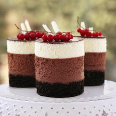 tripple chocolate mousse cheesecake - Cheesecakes, one of my weaknesses!