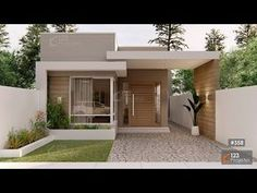 Modern Small House Design, Small House Exteriors, Modern House Facades, Modern Bungalow House, Simple House Design, Minimalist House Design, Dream House Exterior, Simple House Exterior, Modern Houses