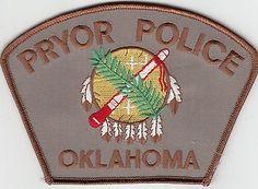 PRYOR POLICE PATCH OKLAHOMA OK